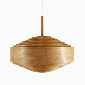 Swedish Pinewood Pendant Lamp by Hans-Agne Jakobsson for Ellysett, 1960s