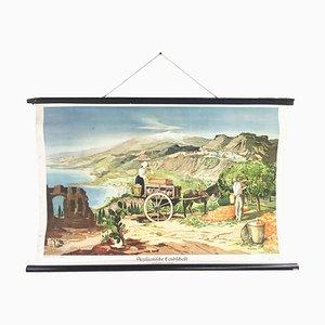 German School Poster of Sicilian Landscape, 1941
