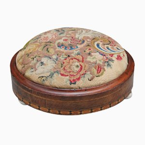 19th Century Mahogany and Inlaid Footstool