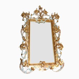 Large Antique Italian Gilt Wood Mirror