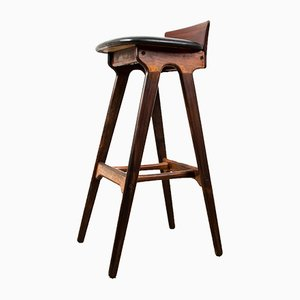Danish Rosewood High Bar Stool by Erik Buch for Oddense Maskinsnedkeri / O.D. Møbler, 1960s