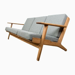 Danish Oak and Fabric Model GE 290 Sofa by Hans J. Wegner for Getama, 1960s