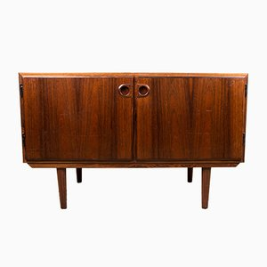 Small Mid-Century Danish Rosewood Sideboard by Sven Ellekaer for Rolschau Mobler, 1960s