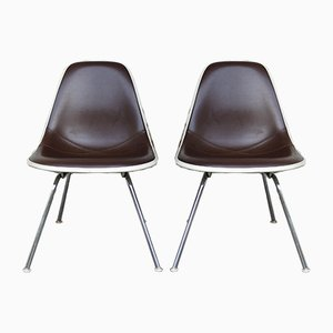 Mid-Century Naugahyde Chairs by Charles & Ray Eames for Herman Miller, USA, Set of 2