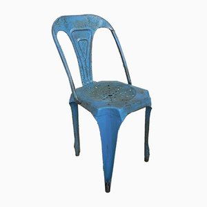 Industrial Steel Stacking Cafe Chairs, 1960s, Set of 6