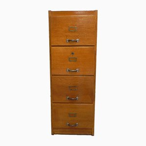 Oak Chest of Drawers with 4 Drawers, 1950s