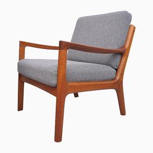 Mid-Century Teak Senator Lounge Chairs by Ole Wanscher for France & Søn / France & Daverkosen, Set of 2