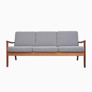 Mid-Century Teak Senator 3-Seat Sofa by Ole Wanscher for France & Søn / France & Daverkosen