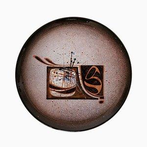 Mid-Century Keramikteller von Pierre Saint-Paul