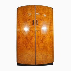 Vintage Ash Veneer Wardrobe by Jindřich Halabala for UP Závody, 1950s