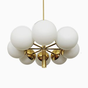 Brass Sputnik Chandelier from Kaiser Leuchten, 1960s