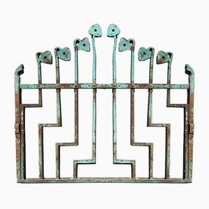 Small Art Nouveau Wrought Iron Garden Gate, 1920s