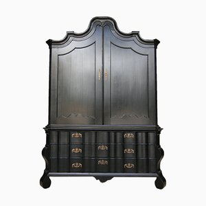 19th Century Dutch Baroque Cabinet with a Black Frame