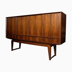 Aparador danés Mid-Century de palisandro con mueble bar de EW Bach, años 60