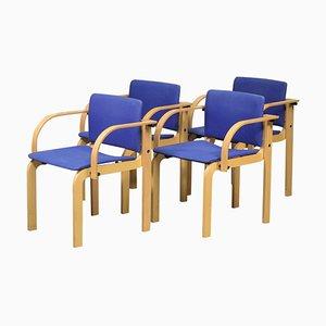 Stapelbare Esszimmerstühle aus Buche von Friis & Moltke für Fritz Hansen, 1980er, 4er Set