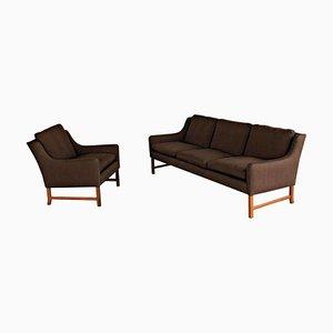 Sillón y sofá de palisandro de Fredrik A. Kayser para Vatne Møbler, años 60. Juego de 2