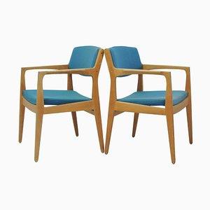 Eichenholz Armlehnstühle von Erik Buch für Ørum Møbelfabrik, 1960er, 2er Set