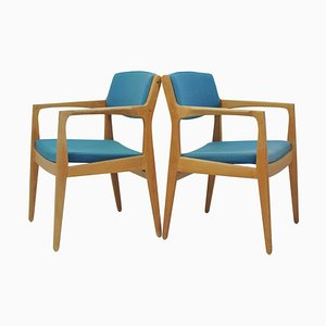 Oak Armchairs by Erik Buch for Ørum Møbelfabrik, 1960s, Set of 2