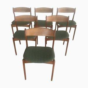 Danish Teak Dining Chairs by Erik Buch for Odense Maskinsnedkeri / O.D. Møbler, 1960s, Set of 6