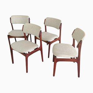 Dänische Palisander Esszimmerstühle von Erik Buch für Odense Maskinsnedkeri / OD Møbler, 1960er, 4er Set