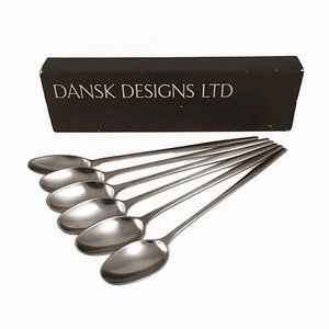 Vintage Dessert Spoons by Jens Quistgaard for Dansk Design, Set of 6