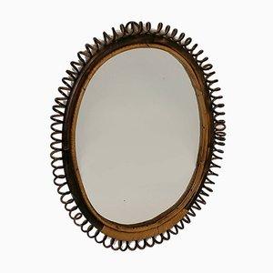 Rattan Mirror, 1950s
