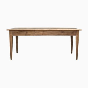 Vintage Farm Dining Table in Walnut, 1920s