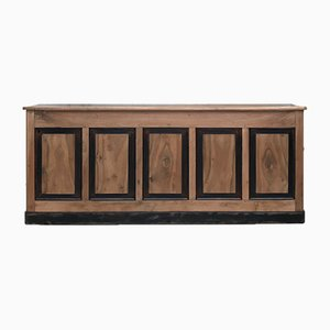 Vintage Bank Counter in Walnut, 1920s
