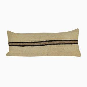 Handgewebter böhmisch gefärbter Kilim Kissenbezug aus Wolle