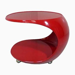 Space Age Side Table on Wheels, Germany, 1960s