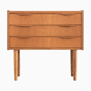 Small Mid-Century Danish Oak Chest of Drawers, 1970s