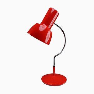 Rote Mid-Century Tischlampe von Josef Hurka für Napako, 1960er
