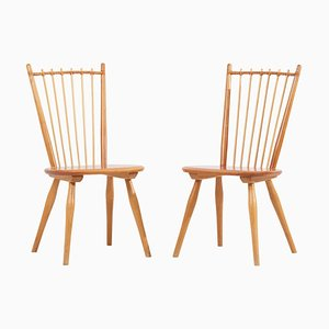 Dining Chairs by Albert Haberer for Hermann Fleiner, Germany, 1950s, Set of 2