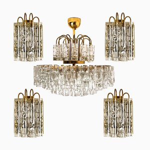 Brass Light Fixtures by Doria Leuchten Germany, 1960s, Set of 5