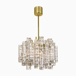 Ice Glass Chandelier by Doria, 1960s
