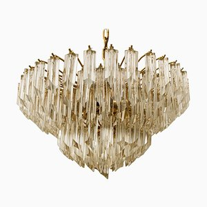 Large 6-Tier Crystal Chandelier by Paolo Venini, 1960s