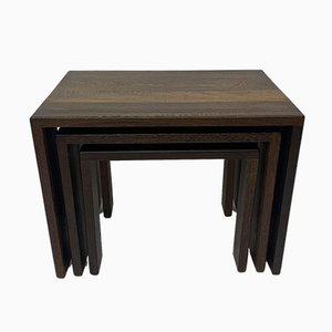 Wenge Wood Nesting Tables, 1970s