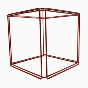 Red Isocele Side Table by Max Sauze for Atrow, 1970s