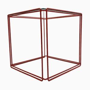 Tavolino Isocele rosso di Max Sauze per Atrow, anni '70