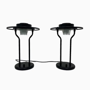 Minimalist Table Lamps, 1980s, Set of 2