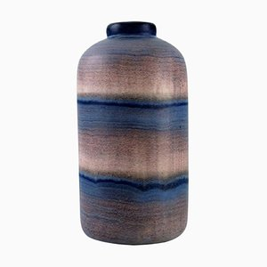 Glazed Ceramic Vase with Striped Design by Ilse Claesson for Rörstrand, 1930s