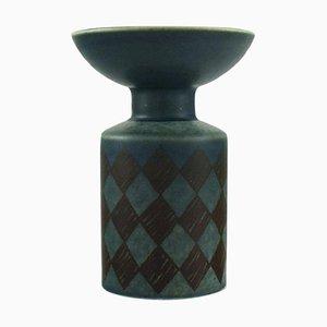 Modernist Glazed Ceramic Vase by Hilkka-Liisa Ahola for Arabia, 1968