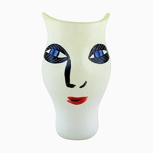 Vase in Mouth-Blown Art Glass by Ulrica Hydman Vallien for Kosta Boda, Sweden, 1980s