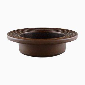 Scodella bassa in ceramica smaltata con bordo scanalato di Arabia, Finlandia, anni '60