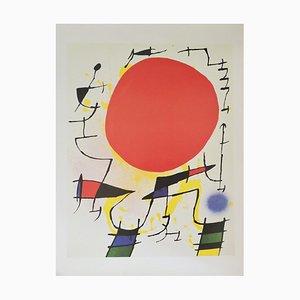 Vintage Joan Miro Poster by Nuova Arti Grafiche Ricordi