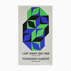 L'art Vivant Fondation Maeght Poster by Victor Vasarely