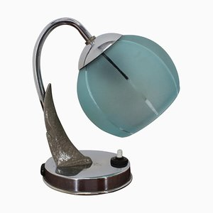 Art Deco Chrome Table Lamp, 1930s