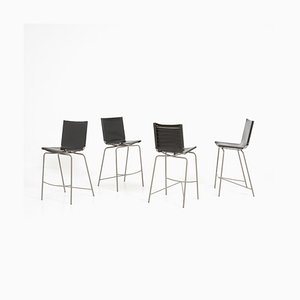Crossed Leg Barstools by Fabiaan Van Severen, 1990s, Set of 4