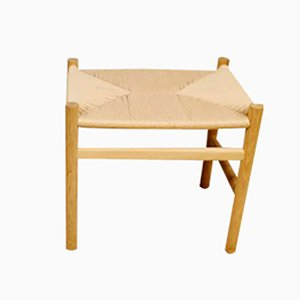 Danish CH53 Ottoman by Hans Wegner for Carl Hansen & Son, 1980s