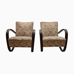 H-269 Lounge Chairs by Jindrich Halabala for UP Závody Brno, 1930s, Set of 2